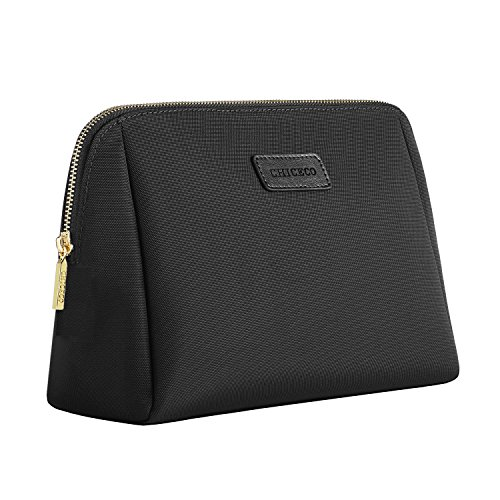 CHICECO Large Cosmetic Pouch Clutch Makeup Bag - Black