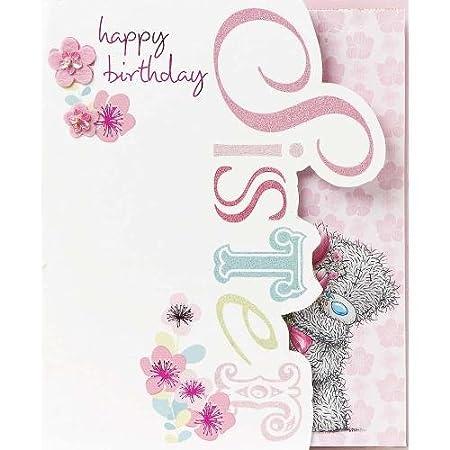 Hermana Me to You Oso tarjeta de cumpleaños: Amazon.es: Hogar