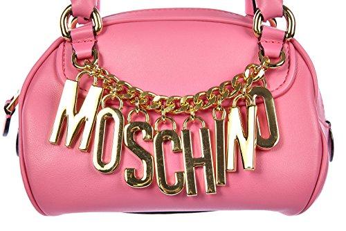 Tasche Moschino rosa Leder Bag Damen Handtasche Tn4wvaqAn