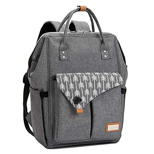 Lekebaby Baby Nappy Changing Backpack Bag with Changing Mat, Arrow Print,...