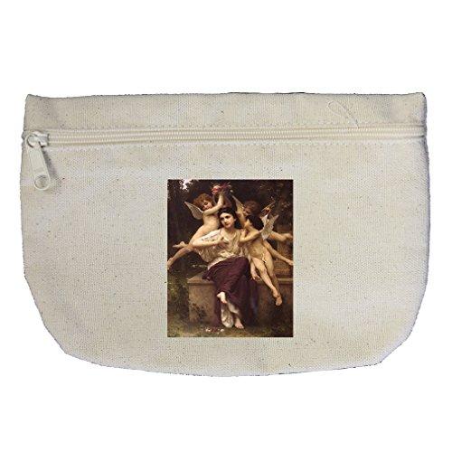 Ave De Printemps (Bouguereau) Canvas Makeup Bag Zippered - Tampa Ave