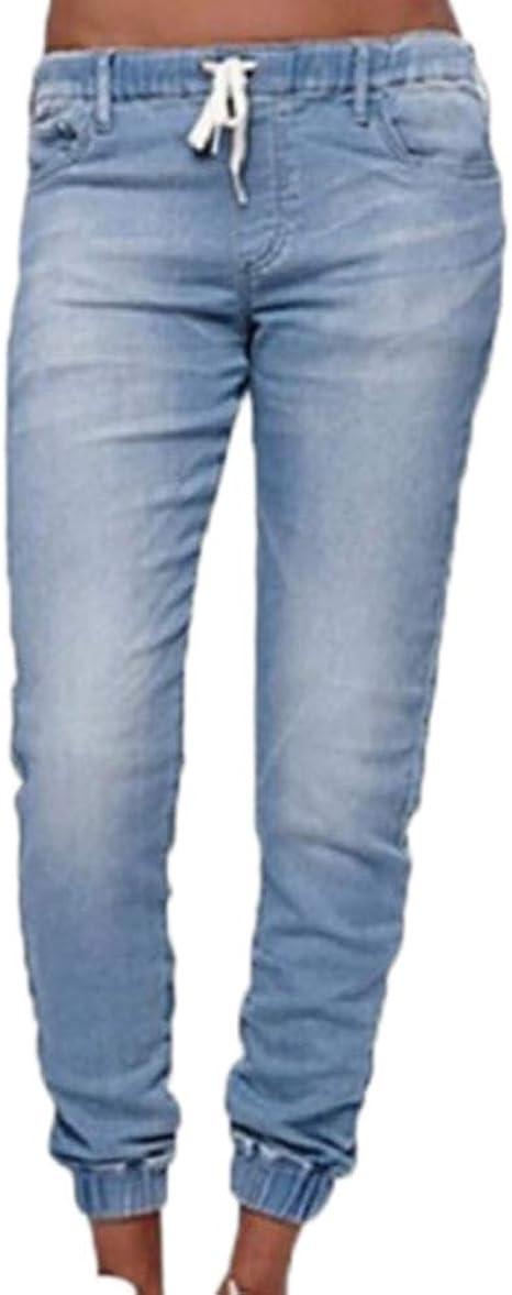 Huateng Pantalones Con Cordones Para Mujer Pantalones Jogger De Color Puro Con Bolsillos Pantalones Con Pantalon De Fitness Para Mujer Bottoms Amazon Es Ropa Y Accesorios