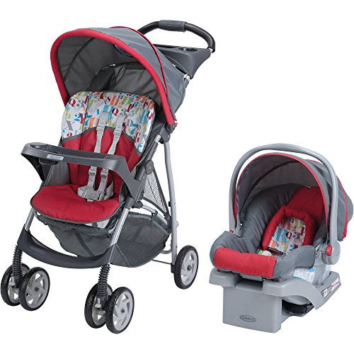 Gracö LiteRider Click Connect Travel System Baby Stroller with SnugRide (Graco Travel Swing)