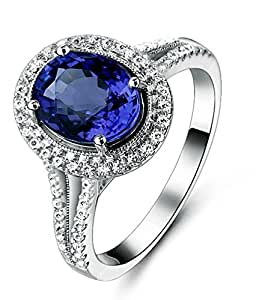 wedding rings amazon antique 1 50 carat sapphire and halo engagement 1011