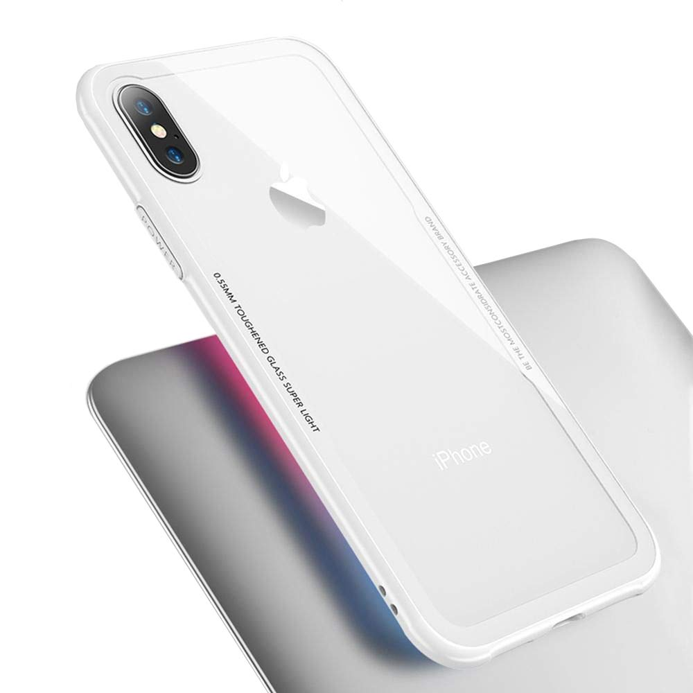 iPhone X、XR、XS、XS MAX用のGajet高級透明ソフトTPUゲル保護ケース[ワイヤレス充電器との互換性]、無料の強化ガラススクリーンプロテクターが付属(iPhone X/XS、WHITE)   B07HBPFCZK