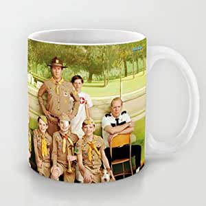 Best Gift Choice - White 11 oz Famous Movie White Ceramic Mugs Classical and Art Design with Moonrise Kingdom Coffee Mugs/Tea Mugs/Drink Cups - Dishwasher and Microwave Safe