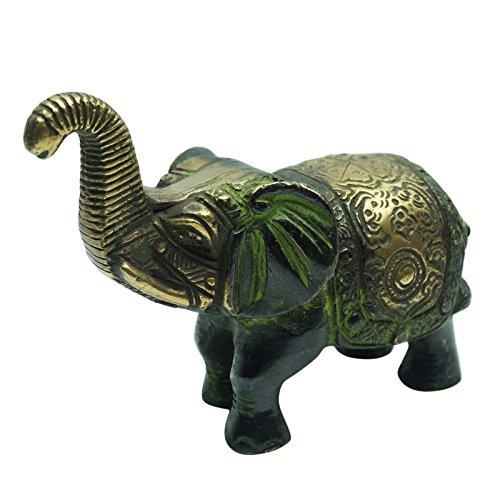 Decorated Brass Elephant - 9