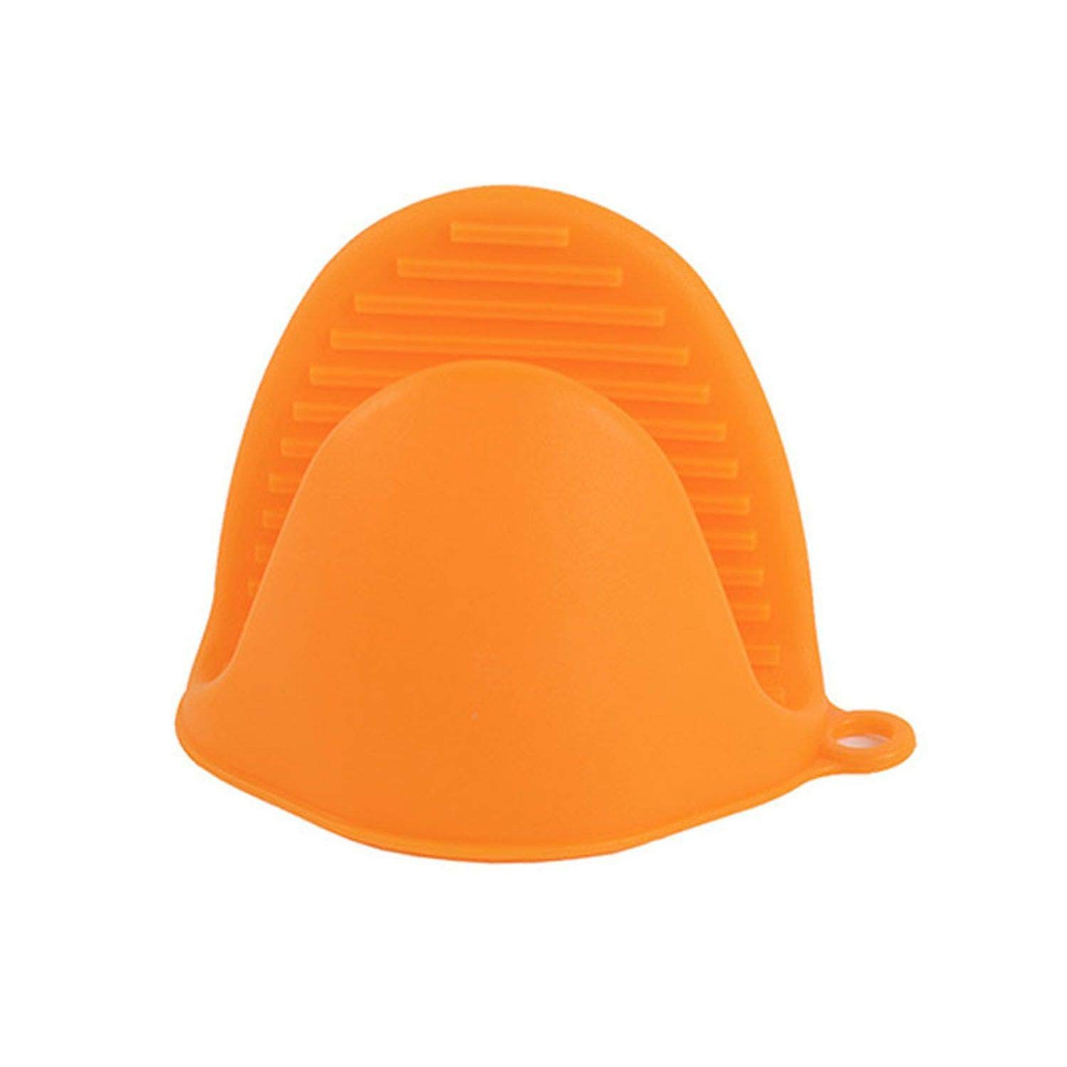 start-imagine Silicone Kitchen Insulated Heat Pot Clips Microwave Oven Gloves Plate Clip 1 Pcs Anti-Scald Thicken,Orange