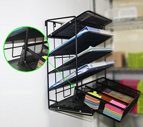 Easypag 5 Tier Mesh Desk Accessories Organizer Wall