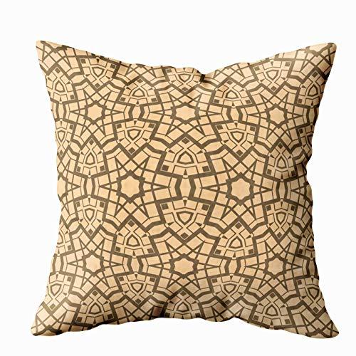 Douecish Boho Cushion Pillow,Modern Geometric Pattern Design Page Fill Wallpaper,Throw Pillow Covers,Cushion Soft Home Sofa Decorative Throw Pillow -