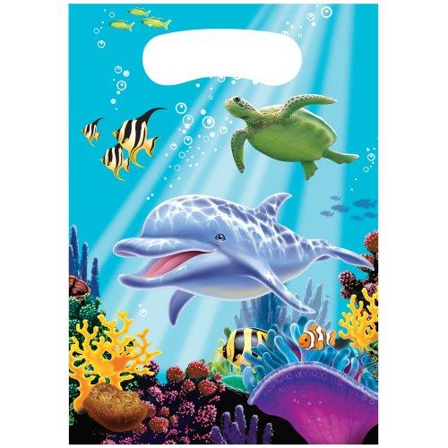 (Creative Converting 85325 Ocean Party 8 Count Party Favor Loot Bags , Multicolor)