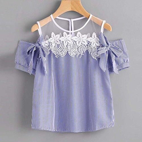 blusas de mujer de moda 2017 verano baratas Switchali camisetas mujer manga corta blusa elegantes de fiesta la camisa de rayas sin tirantes ropa de mujer en ...