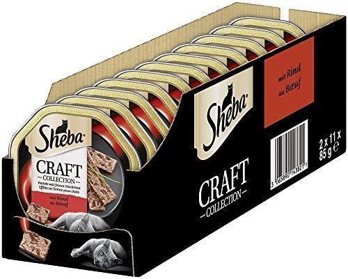 Sheba Katzenfutter Nassfutter Craft Collection Pastete mit feinen Stückchen, verschiedene Geschmacksrichtungen, 22…