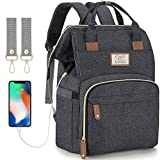 Diaper Bag Backpack with USB Charging Port and