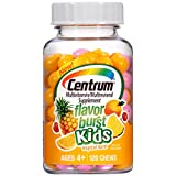 Centrum Kids Flavor Burst (120 Count, Tropical Burst Flavor) Multivitamin / Multimineral Supplement Chews, Vitamin A, Vitamin C, Vitamin D For Sale