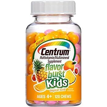 Amazon Com Centrum Kids Flavor Burst 120 Count Tropical Burst