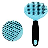 Luck Dawn Pet Slicker Brush Pet Comb Massage Brush Shedding Grooming Tools Long Pin Slicker Brush for Cats Dogs