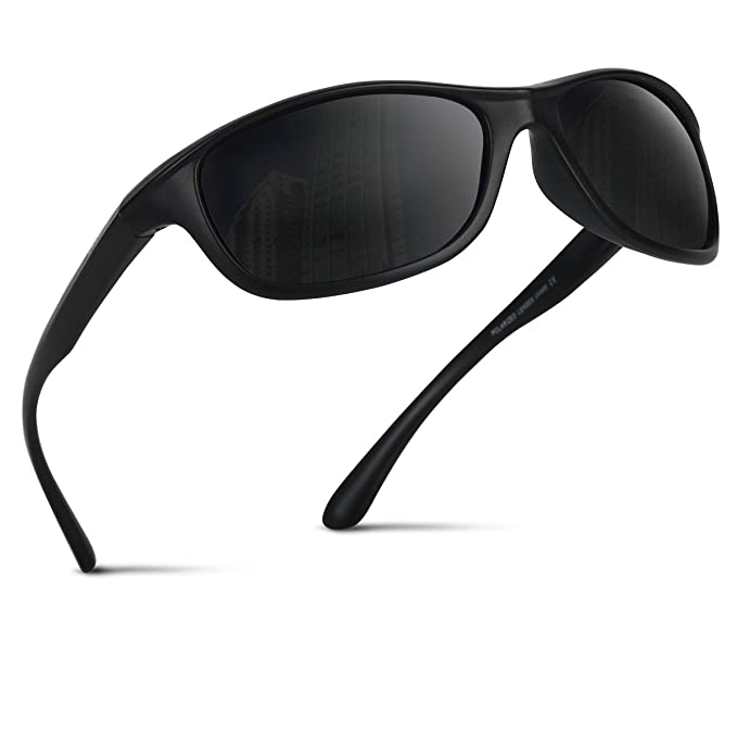 c1cf0c7e38d Occffy polarized sports sunglasses with UV400 Protection for Man Women  Outdoors Sports Fishing Ski Driving Golf Running Cycling Camping TR54  (black matte ...