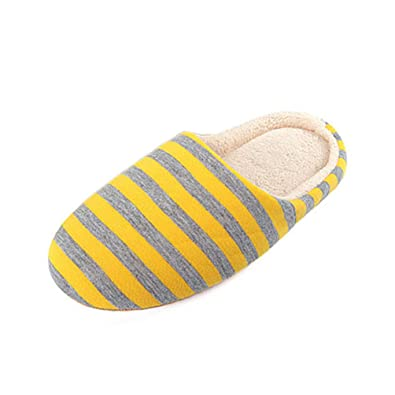Zapatos Ocasionales para Zapatillas Casa Invierno Rayada Piso Suave Hombre Interior Pisos Zapatos Deslizador del AlgodóN Felpa CáLida: Amazon.es: Zapatos y ...