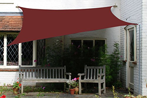 Belle Dura Brick Red 10′ x 13′ Sun Shade Sails Rectangle UV Block for Shelter Canopy ...