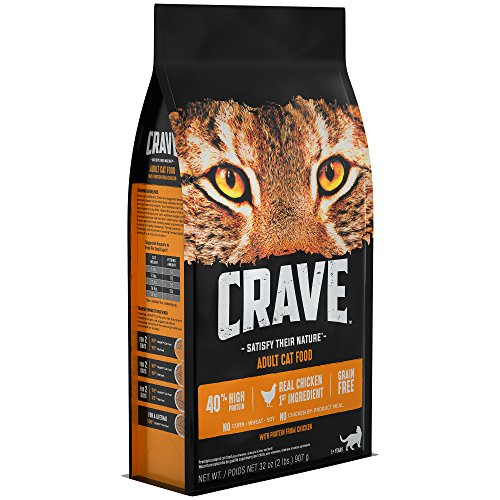 Crave Grain Free With Protein From Chicken Dry Adult Cat Food, 2 Pound Bag (Best Dry Cat Food For Picky Cats)