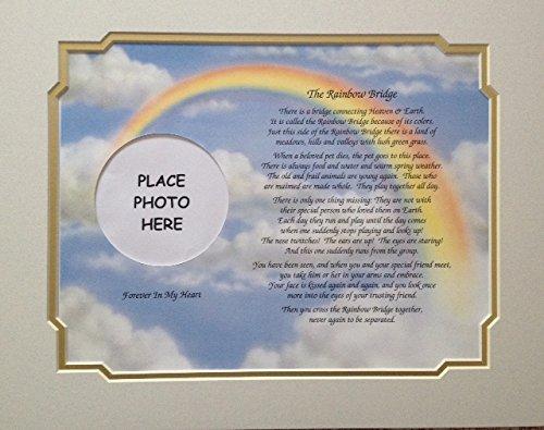 Heart Poem Mat - In Memory of Pet Rainbow Bridge Memorial Poem Sentimental Gift for Loss of Dog Cat by Cazual Creations