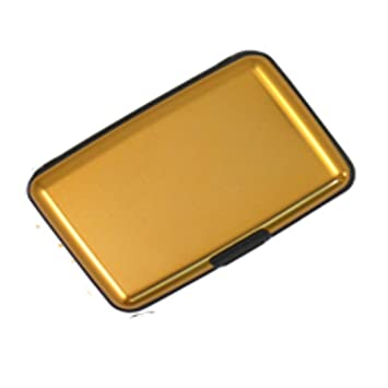Aluminium credit card holder wallet case purse metal business card aluminium credit card holder wallet case purse metal business card protector uk gold reheart Image collections