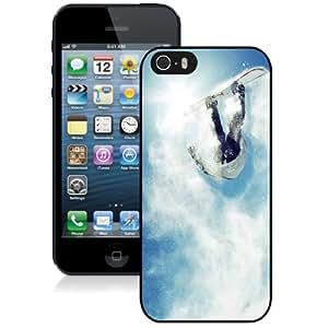 NEW Unique Custom Designed iPhone 5S Phone Case With Snowboard Big Air Powder_Black Phone Case