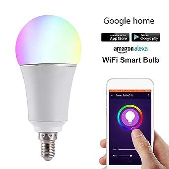 E27//B22 RGB LED Lampe WIFI Smart Glühbirne Für Smart Home Für Alexa Google