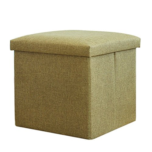 Vencer Classics Foldable Storage Cube/Ottoman,prasinous 15''X15''X15''