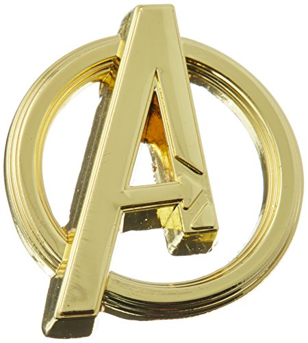 (Marvel Avengers Logo Gold Color Pewter Lapel Pin Novelty and Amusement Toys)