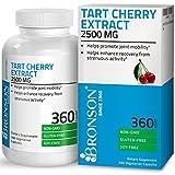 #9: Bronson Tart Cherry Extract 2500 mg Premium Non-GMO Gluten Free Soy Free Formula, 360 Vegetarian Capsules