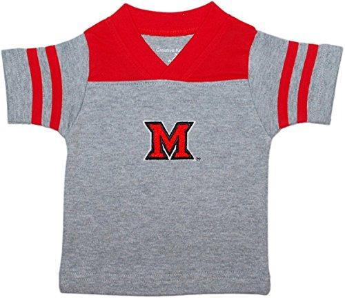 Creative Knitwear Miami University Redhawks Newborn Baby Toddler Sport Shirt (Redhawks Top)