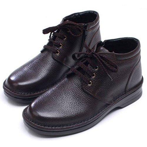 ... Epicstep Menns Ekte Skinn Uformell Komfort Kjole Formell Zip Snøre Opp  Sko Ankel Boots Oxfords Loafers ...
