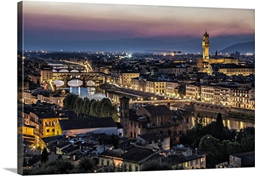 Scott Stulberg Premium Thick-Wrap Canvas Wall Art Print entitled Piazza de Michaelangelo, Florence, Italy 36