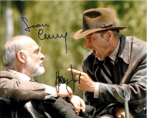 Harrison Ford & Sean Connery in Indiana Jones Signed Autographed Movie 8 X 10 Reprint Photo - (Mint Condition) (Indiana Jones Movie Memorabilia)