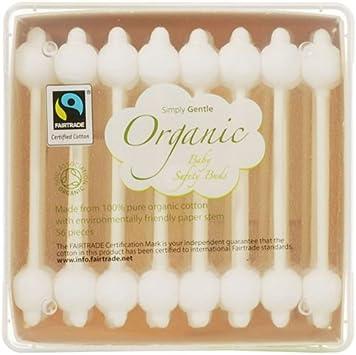Simply Gentle algodón orgánico bebé seguridad – Pack de 56 Buds: Amazon.es: Salud y cuidado personal