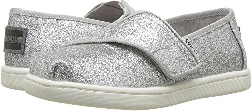 (TOMS Kids Baby Girl's Alpargata (Infant/Toddler/Little Kid) Silver Iridescent Glimmer 11 M US Little)