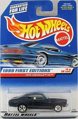 - Hot Wheels 1999 First Editions 1970 '70 Chevy Chevelle SS Dark Blue #4