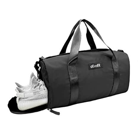 108ce1255d Amazon.com  Ativafit Women Gym Bag with Shoes Compartment Sports Swim Travel  Overnight Duffels Pink  Elphabas