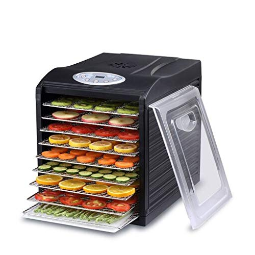 BioChef Arizona Sol Food Dehydrator 9 x BPA FREE Stainless Steel Drying Trays & Digital Timer - Includes: 3 x Non Stick & 3 x Fine Mesh Sheet & Drip Tray. Best Drier for Raw Food, Fruit, Jerky (Black) (Steel Stainless Trays Dehydrator)