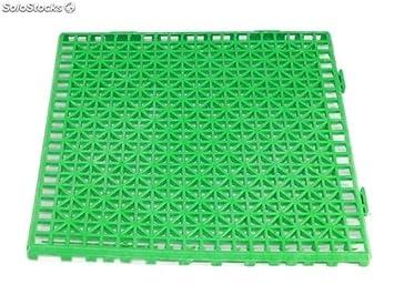 Grupo Contact Suelo Formato losetas para vestuarios en Color Verde, filtrante (30 x 30 cm.): Amazon.es: Deportes y aire libre