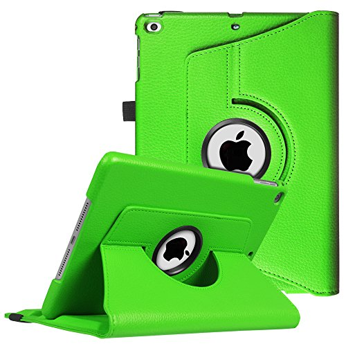 Fintie iPad 9.7 inch 2018 2017 / iPad Air Case - 360 Degree Rotating Stand Protective Cover with Auto Sleep Wake for Apple iPad 9.7 (6th Gen, 5th Gen) / iPad Air 2013 Model, Green
