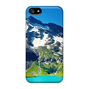 WFpkZRV-4566 Nature Mountains Blue Lake In Mountains Fashion Tpu 5/5s Case Cover For Iphone