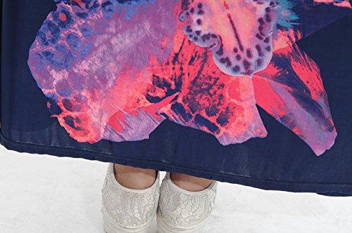 Battercake Damen Kleid Mehrfarbig Mehrfarbig Gr. 5XL, Mehrfarbig - Blue2