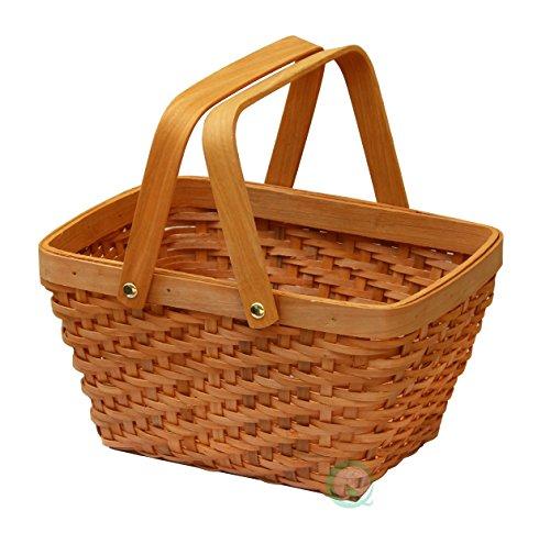 [Vintiquewise(TM) QI003056 Rectangular Chip Picnic Basket] (Wizard Of Oz Basket)
