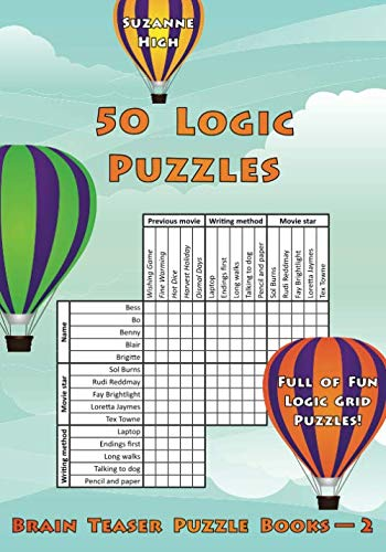50 Logic Puzzles: Full of Fun Logic Grid Puzzles! (Brain Teaser Puzzle Books) (Volume 2)