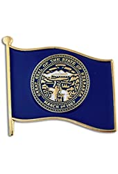 "Nebraska State Flag NE Lapel Pin 1"""