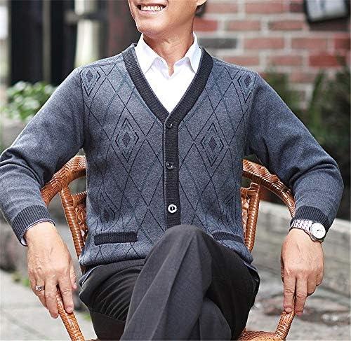 カーディガン メンズ セーター 秋冬 厚手 冬物 アウトドアウェア カシミヤ 柔らかい 長袖 かっこいい ニット 暖かい 防寒 カジュアル ファション おしゃれ シンプル