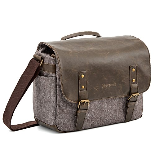 Messenger DSLR Camera Bag, Evecase Urban Life Shoulder Case with 10.1 Tablet Compartment For Nikon/Sony/Canon/Olympus Interchangeable, Mirrorless, Micro 4/3, Full Frame Lens Digital SLR Camera by Evecase